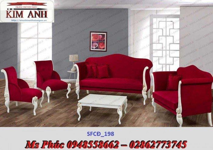 Sofa tân cổ điển phòng khách ms SFCĐ_207 màu hồng pastel giá ưu đãi4
