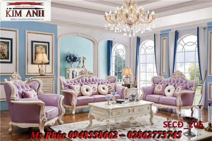 Sofa tân cổ điển phòng khách ms SFCĐ_207 màu hồng pastel giá ưu đãi10