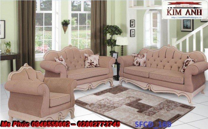 Sofa tân cổ điển phòng khách ms SFCĐ_207 màu hồng pastel giá ưu đãi14