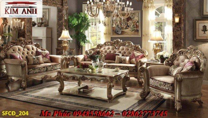 Sofa tân cổ điển phòng khách ms SFCĐ_207 màu hồng pastel giá ưu đãi17