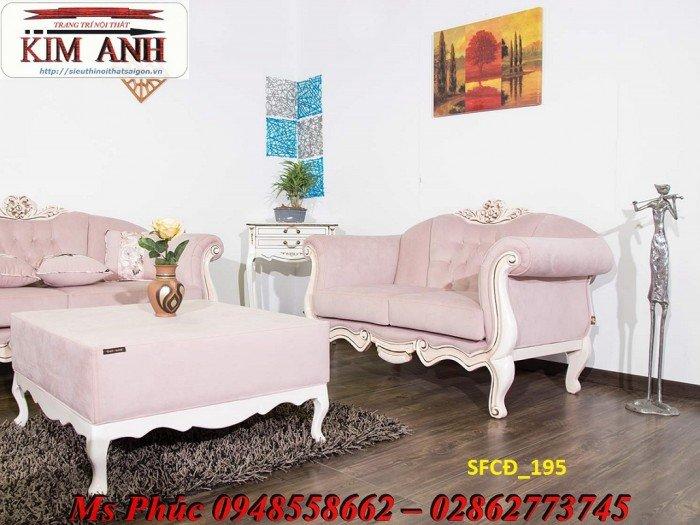 Sofa tân cổ điển phòng khách ms SFCĐ_207 màu hồng pastel giá ưu đãi5