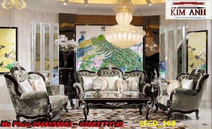 Sofa tân cổ điển phòng khách ms SFCĐ_207 màu hồng pastel giá ưu đãi16