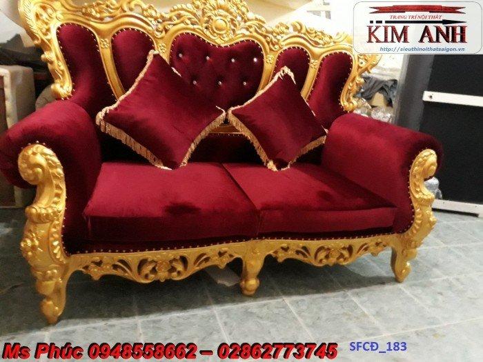 Sofa tân cổ điển phòng khách ms SFCĐ_207 màu hồng pastel giá ưu đãi3