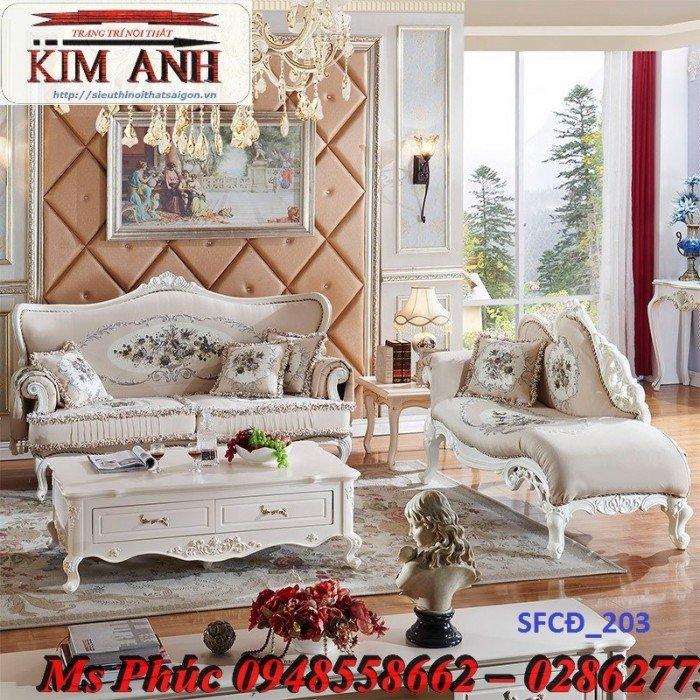 Sofa tân cổ điển phòng khách ms SFCĐ_207 màu hồng pastel giá ưu đãi0