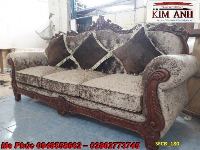 Sofa tân cổ điển phòng khách ms SFCĐ_207 màu hồng pastel giá ưu đãi12