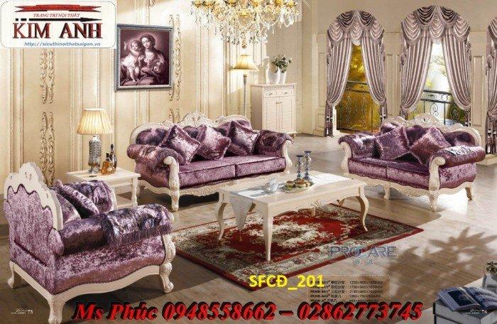 Sofa tân cổ điển phòng khách ms SFCĐ_207 màu hồng pastel giá ưu đãi8