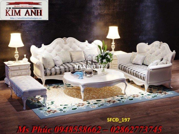 Sofa tân cổ điển phòng khách ms SFCĐ_207 màu hồng pastel giá ưu đãi2