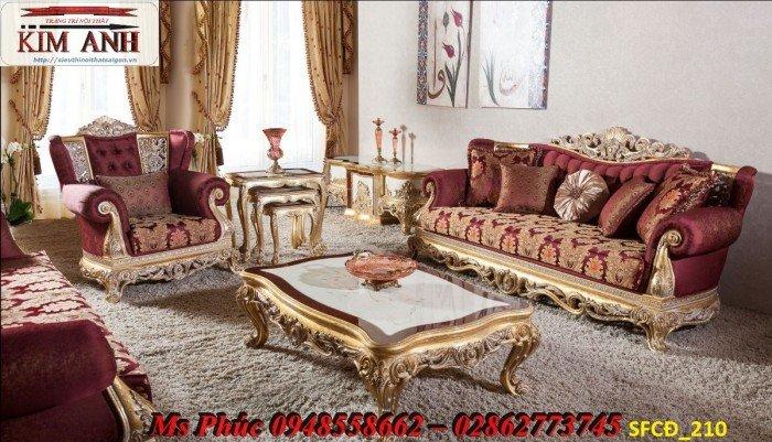 Sofa tân cổ điển phòng khách ms SFCĐ_207 màu hồng pastel giá ưu đãi7