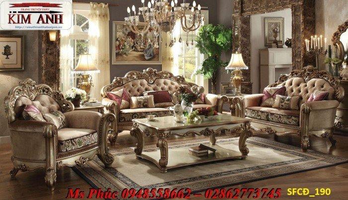 Sofa tân cổ điển phòng khách ms SFCĐ_207 màu hồng pastel giá ưu đãi11