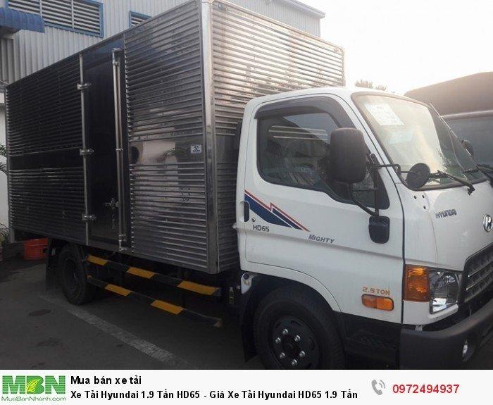 Xe Tải Hyundai 1.9 Tấn HD65 - hỗ trợ ngân hàng 90% thời gian vay 72 tháng ( 0972494937 )