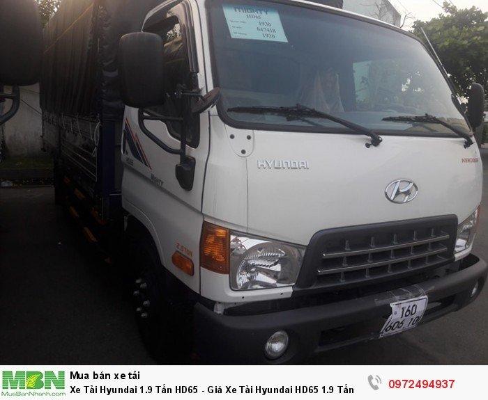 Xe Tải Hyundai 1.9 Tấn HD65 - Tặng định vị GPS
