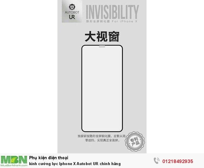 kính cường lực Iphone X Autobot UR chính hãng