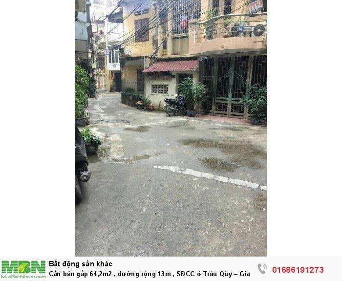 Cần bán gấp 64,2m2 , đường rộng 13m , SĐCC ở Trâu Qùy – Gia Lâm-Hà Nội.