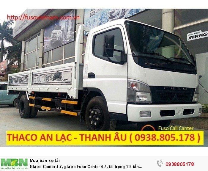 Giá xe Canter 4.7, giá xe Fuso Canter 4.7, tải trọng 1.9 tấn Thaco Trường Hải. 3