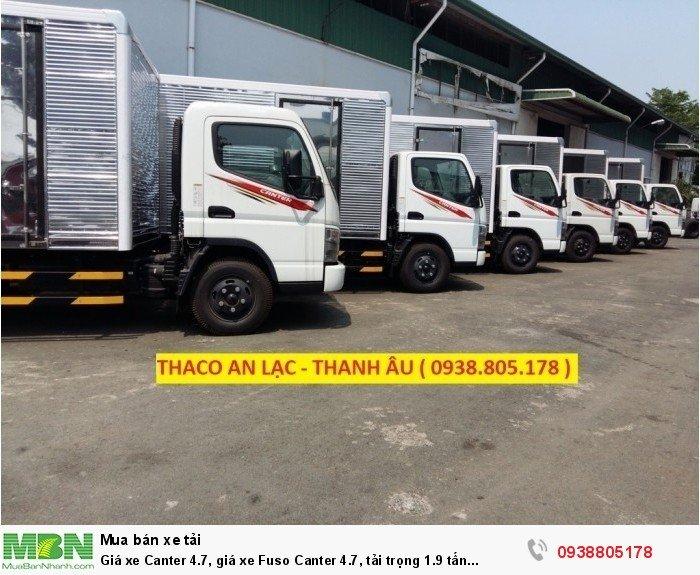 Giá xe Canter 4.7, giá xe Fuso Canter 4.7, tải trọng 1.9 tấn Thaco Trường Hải. 4