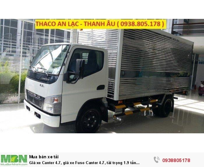 Giá xe Canter 4.7, giá xe Fuso Canter 4.7, tải trọng 1.9 tấn Thaco Trường Hải. 5