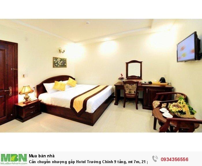 Cần chuyển nhượng gấp Hotel Trường Chinh 9 tầng, mt 7m, 21 phòng HĐ 90tr/tháng.