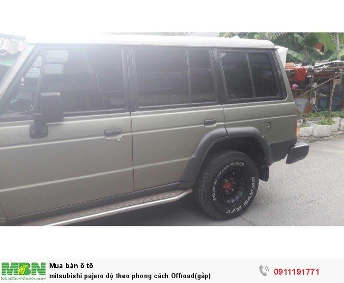 Mitsubishi Pajero độ theo phong cách Offroad(gấp)
