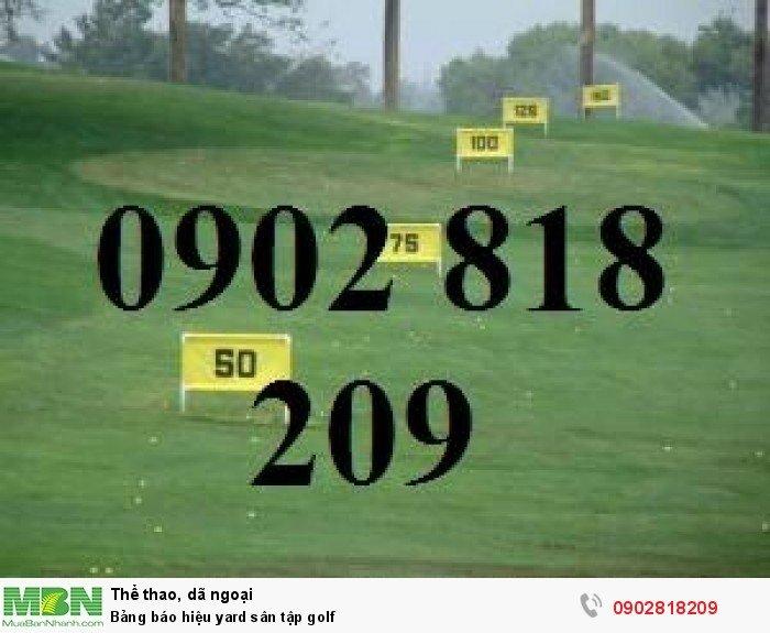 Bảng báo hiệu yard sân tập golf3