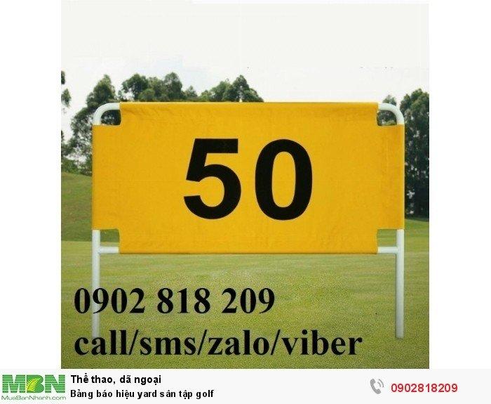 Bảng báo hiệu yard sân tập golf6