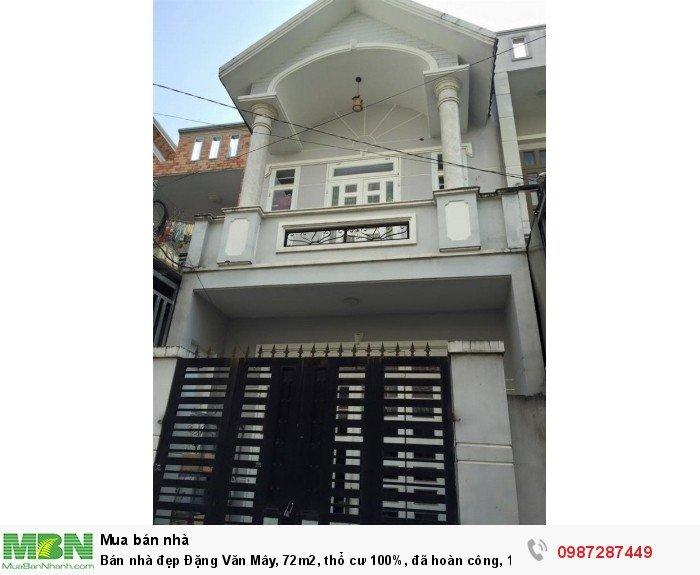 Bán nhà đẹp Đặng Văn Mây, 72m2, thổ cư 100%, đã hoàn công