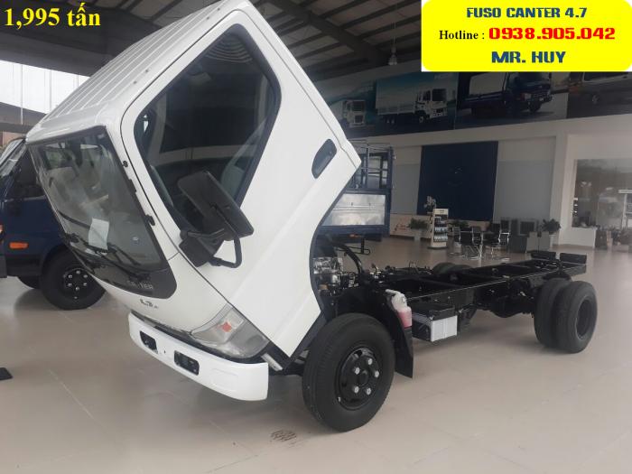 Giá xe tải Fuso Canter 4.7 thùng mui bạt tải trọng 1.9 tấn