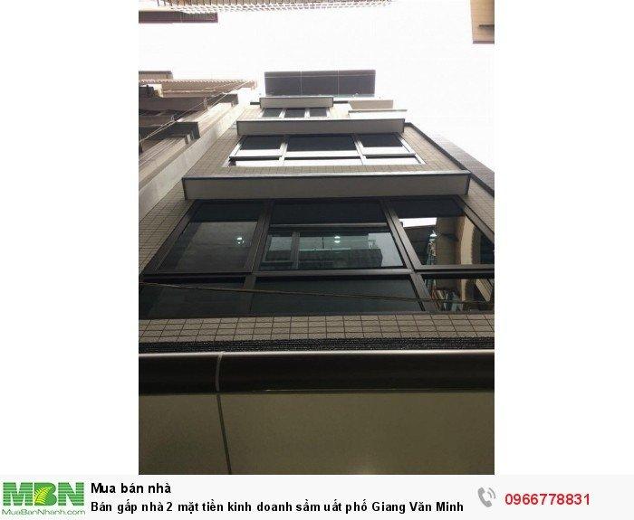 Bán gấp nhà 2 mặt tiền kinh doanh sầm uất phố Giang Văn Minh, 50m, 4 tầng