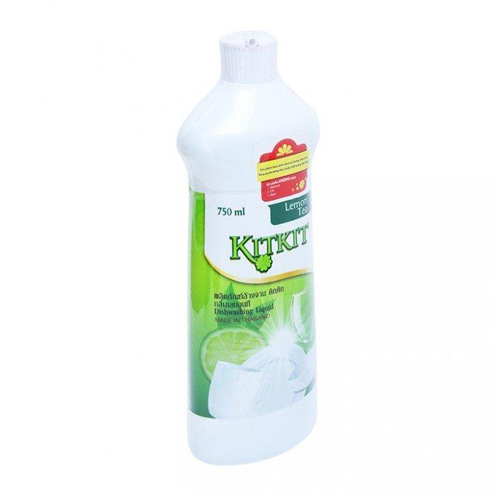 Nước rửa chén KitKit hương trà chanh chai 750ml