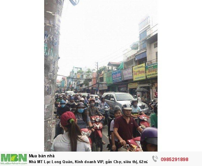 Nhà MT Lạc Long Quân, Kinh doanh VIP, gần Chợ, siêu thị, 62m2 Giá mềm