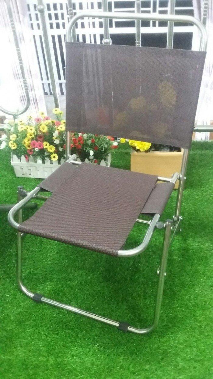 Ghế xếp inox vải bố cho kinh doanh cafe. Liên hệ: 0906843059 Lê Hoàng (24/24)0