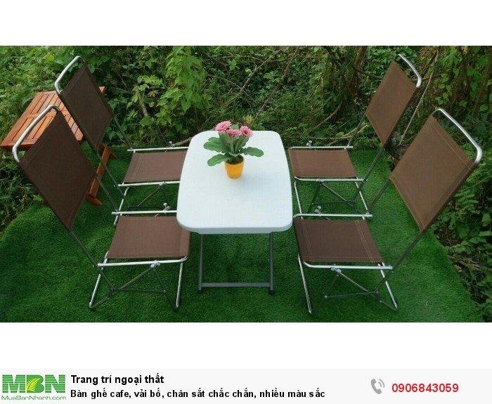 Bàn ghế cafe chất liệu vải bố, đủ màu sắc. Liên hệ: 0906843059 Lê Hoàng (24/24)0