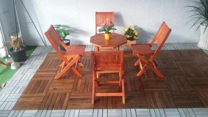 Bộ bàn ghế xếp gỗ cho kinh doanh cafe. Liên hệ: 0906843059 Lê Hoàng (24/24)0