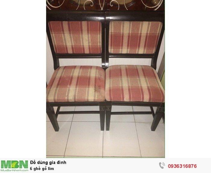 6 ghế gỗ lim