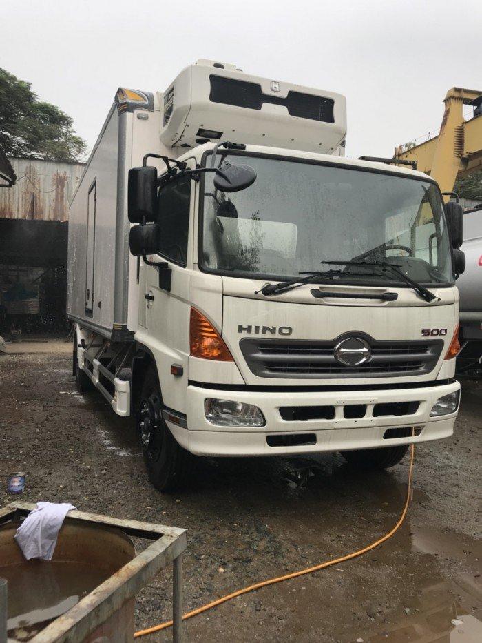 Xe tải đông lạnh Hino FG 8 tấn, xe dong lanh Hino 8t,xe tai bao on Hino 8t,xe tai Hino bao on 8t