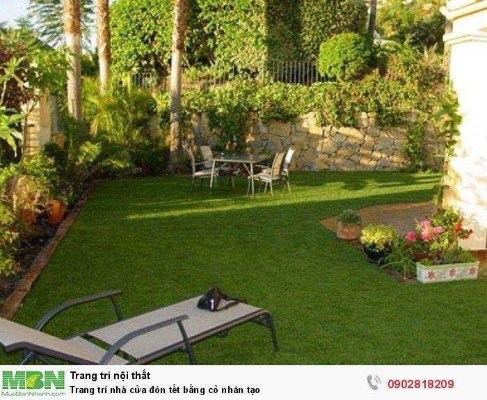 Trang trí nhà cửa đón tết bằng cỏ nhân tạo