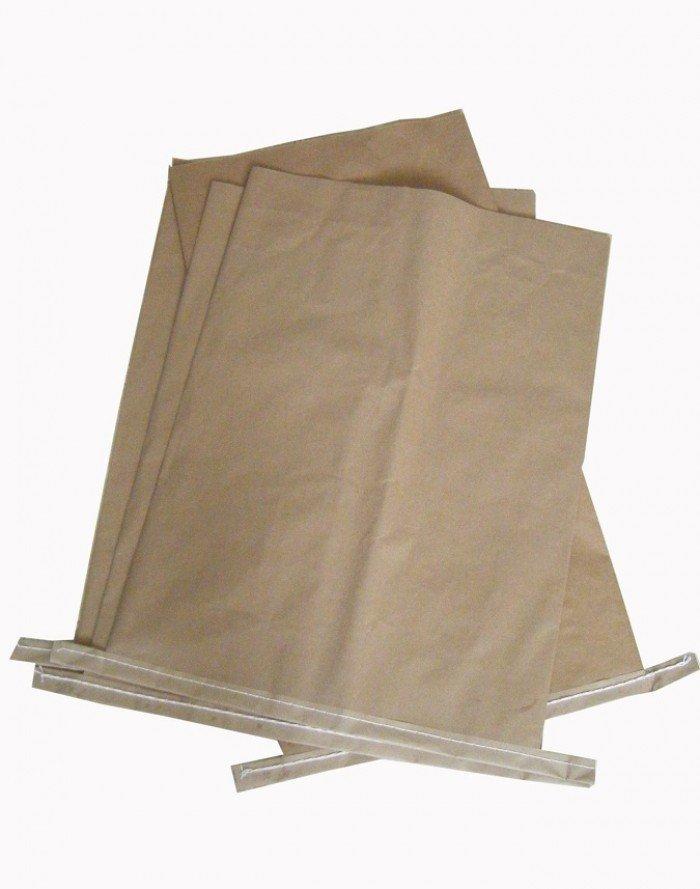 Bao Bì giấy Kraft, Bao giấy Kraft ghép vải PP dệt, bao giấy đựng 25Kg0