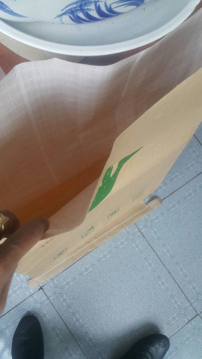 Bao Bì giấy Kraft, Bao giấy Kraft ghép vải PP dệt, bao giấy đựng 25Kg4