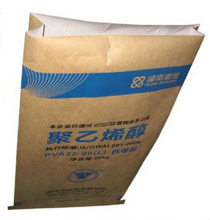 Bao Bì giấy Kraft, Bao giấy Kraft ghép vải PP dệt, bao giấy đựng 25Kg5