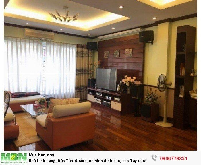 Nhà Linh Lang, Đào Tấn, 6 tầng, An sinh đỉnh cao, cho Tây thuê giá cao!
