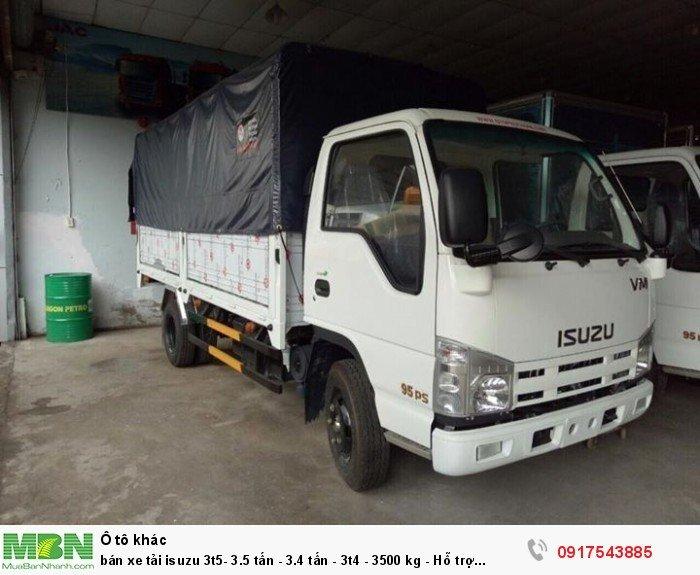 Bán xe tải Isuzu 3t5- 3.5 tấn - 3.4 tấn - 3t4 - 3500 kg - Hỗ trợ trả góp ngân hàng 90% 1