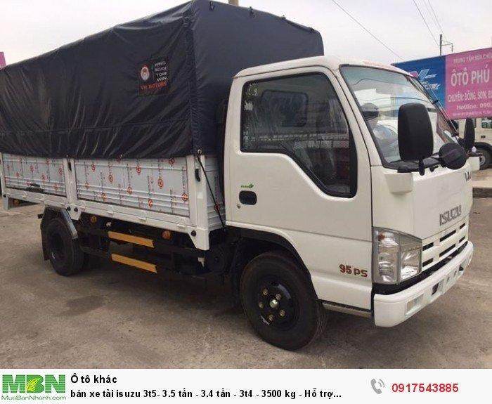 Bán xe tải Isuzu 3t5- 3.5 tấn - 3.4 tấn - 3t4 - 3500 kg - Hỗ trợ trả góp ngân hàng 90% 0