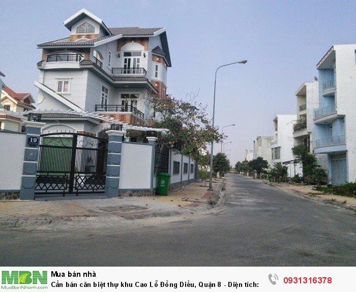 Cần bán căn biệt thự khu Cao Lỗ Đồng Diều, Quận 8  -  Diện tích: 8 x 20m