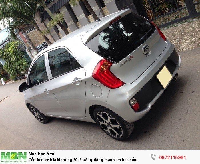 Cần bán xe Kia Morning 2016 số tự động màu xám bạc bản Si full option 1