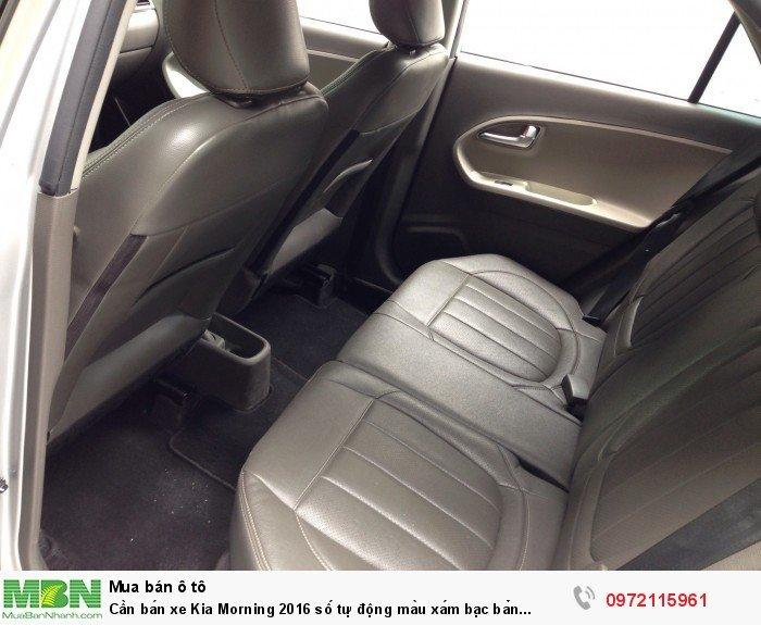 Cần bán xe Kia Morning 2016 số tự động màu xám bạc bản Si full option 3
