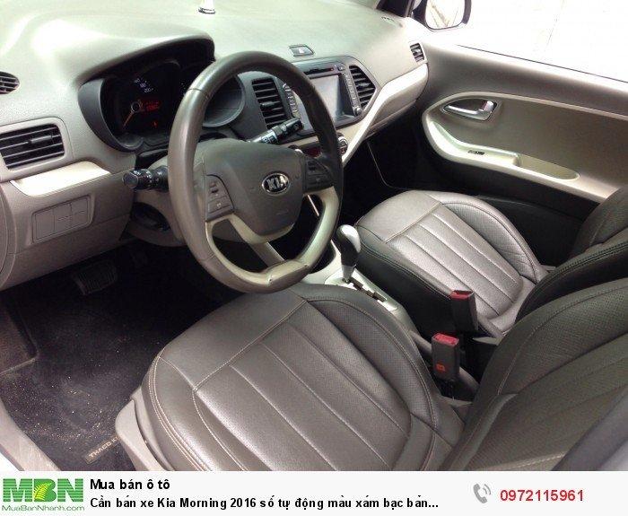 Cần bán xe Kia Morning 2016 số tự động màu xám bạc bản Si full option 2