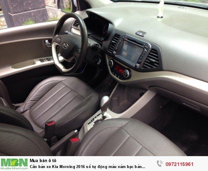 Cần bán xe Kia Morning 2016 số tự động màu xám bạc bản Si full option 5