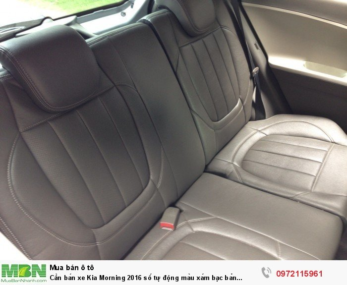 Cần bán xe Kia Morning 2016 số tự động màu xám bạc bản Si full option 7
