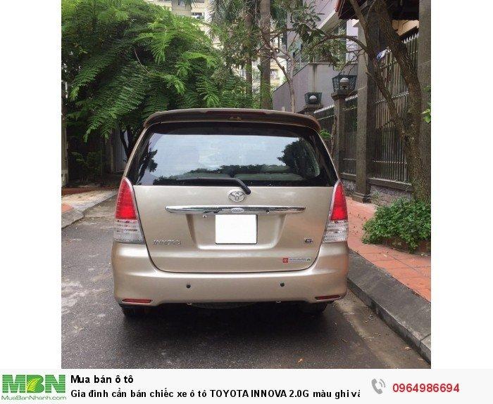 Gia đình cần bán chiếc xe ô tô TOYOTA INNOVA 2.0G màu ghi vàng SX 2011 2