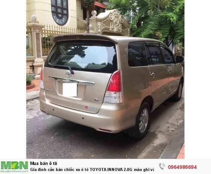 Gia đình cần bán chiếc xe ô tô TOYOTA INNOVA 2.0G màu ghi vàng SX 2011 3