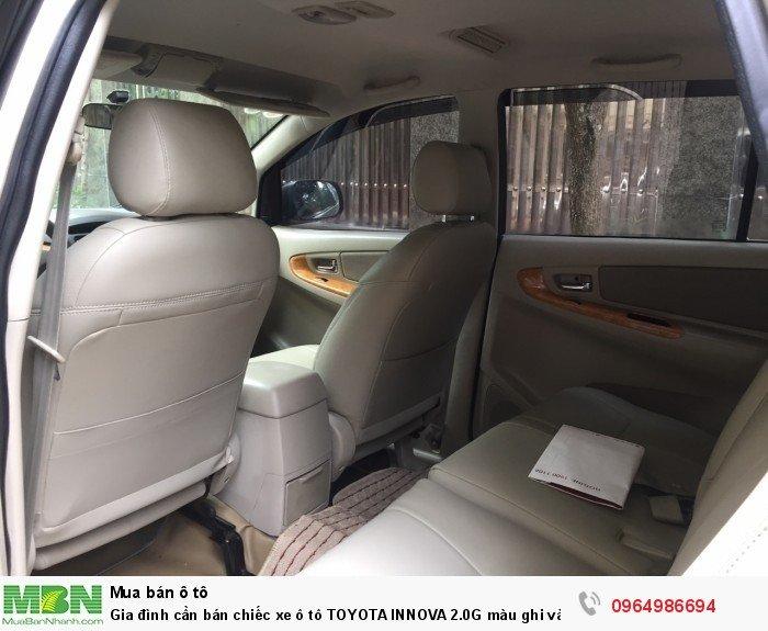 Gia đình cần bán chiếc xe ô tô TOYOTA INNOVA 2.0G màu ghi vàng SX 2011 5